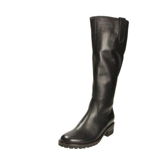 Damen Gabor Stiefel schwarz Langschaft-Stiefel Kreta, Weit 38