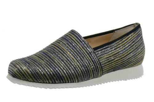 Damen HASSIA Komfort Slipper blau Piacenza 37