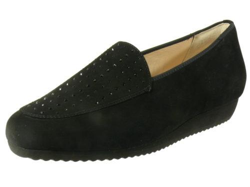 Damen HASSIA Komfort Slipper schwarz Sanremo 39