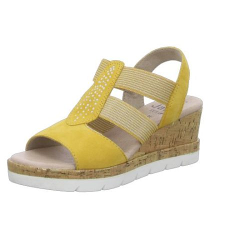 Damen Jana Klassische Sandalen gelb Da.-Sandalette 40