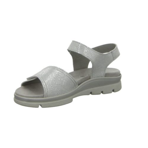 Damen Longo Komfort Sandalen grau Bequem-Sandalette,ice crack 39