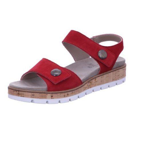 Damen Longo Komfort Sandalen rot Bequem-Sandalette,red 39