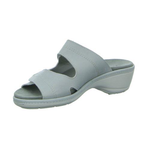 Damen Longo Pantoletten grau grau Leder 39