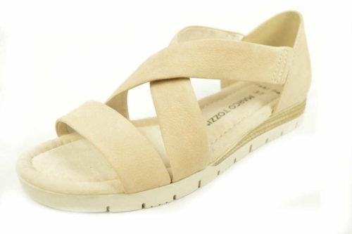 Damen Marco Tozzi Komfort Sandalen beige Da.-Sandalette 41