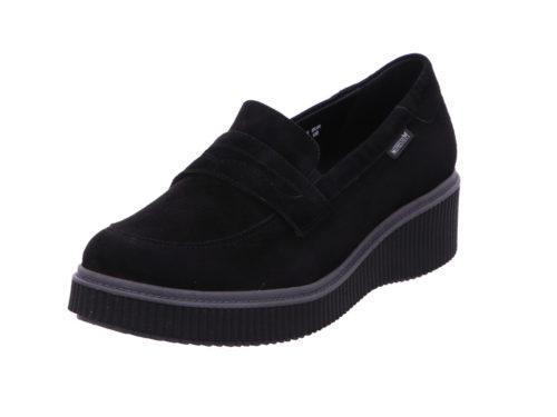 Damen Mephisto Komfort Slipper schwarz BLACK 41