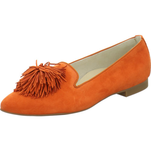 Damen Paul Green Ballerinas gelb orange Samtziege 37,5