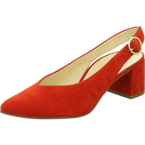 Damen Paul Green Sling-Pumps rot 0064-7503-024/Sandalette 38