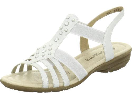 Damen Remonte Klassische Sandalen metallic Sandalette 37