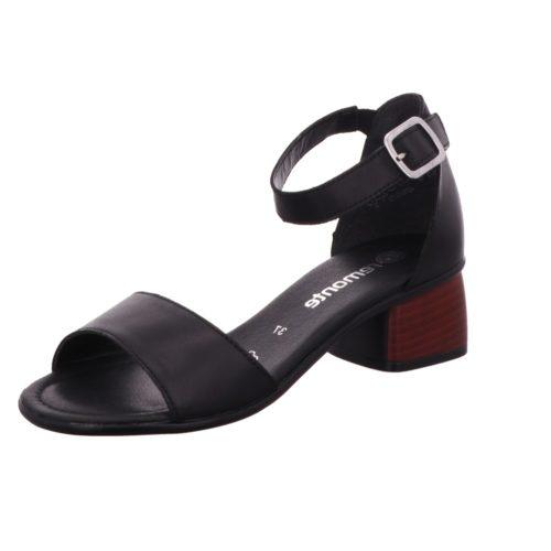 Damen Remonte Klassische Sandalen schwarz Sandalette 42
