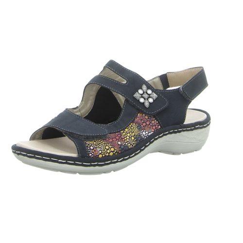 Damen Remonte Komfort Sandalen blau Sandalette 38