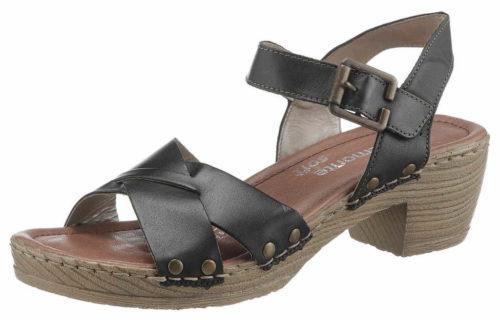 Damen Remonte Komfort Sandalen schwarz Sandalette 42