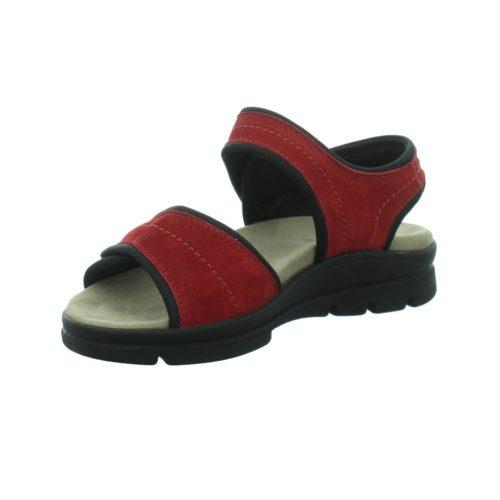 Damen Rieker Komfort Sandalen rot Damen-Sandalette,red 42