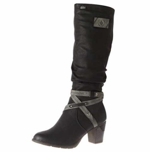 Damen Rieker Stiefel schwarz 38