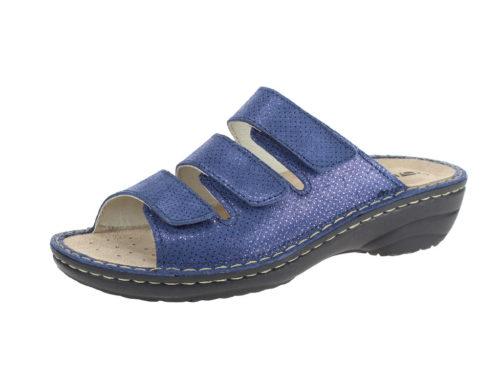 Damen Rohde Pantoletten blau 42