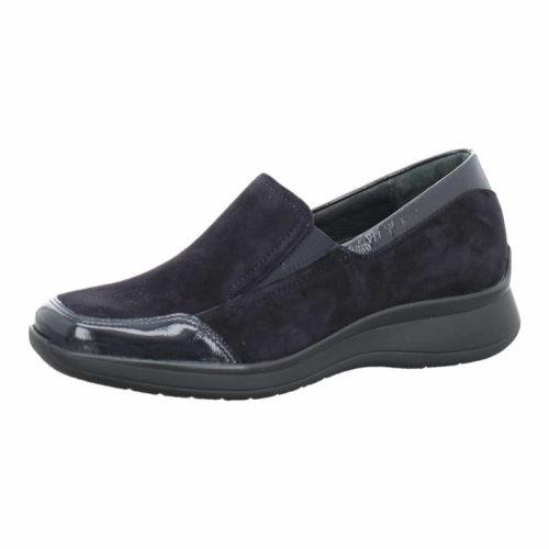Damen Semler Komfort Slipper blau Regina 38,5