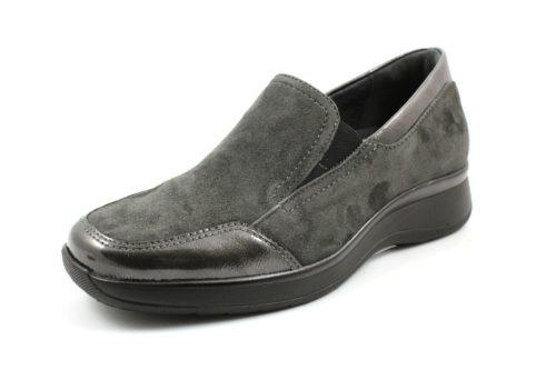 Damen Semler Komfort Slipper grau 38