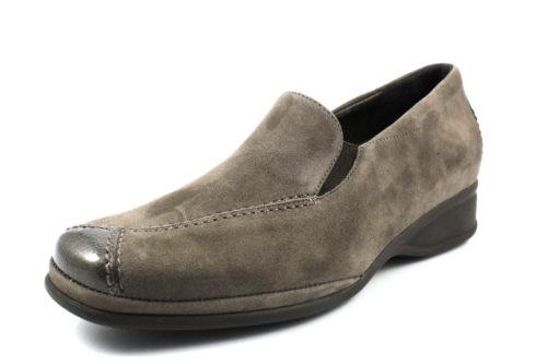 Damen Semler Komfort Slipper grau 43