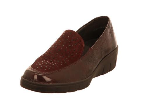 Damen Semler Komfort Slipper rot 37
