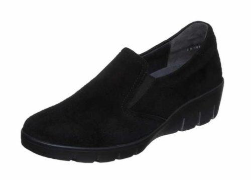 Damen Semler Komfort Slipper schwarz 38,5