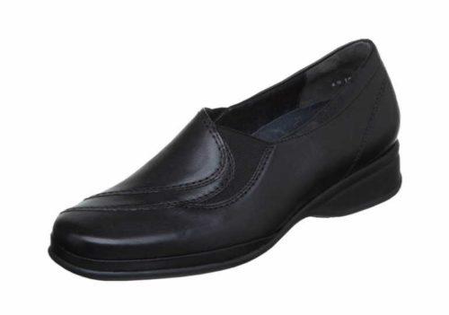 Damen Semler Komfort Slipper schwarz 40