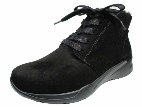 Damen Semler Schnür-Stiefeletten schwarz E35056 41