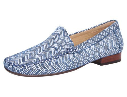 Damen Sioux Klassische Slipper blau Damen Mokassin 40,5