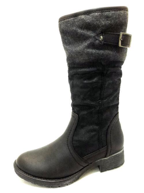 Damen Softline Stiefel schwarz 36
