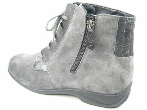 Damen Solidus Schnür-Stiefeletten grau Kim Stiefel 166 37