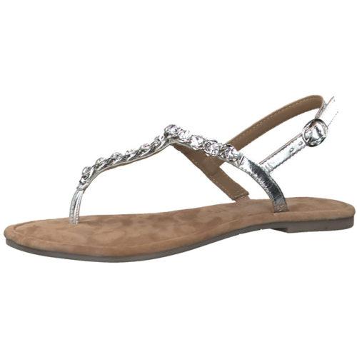Damen Tamaris Komfort Sandalen metallic Zehensteg-Sandalette 40