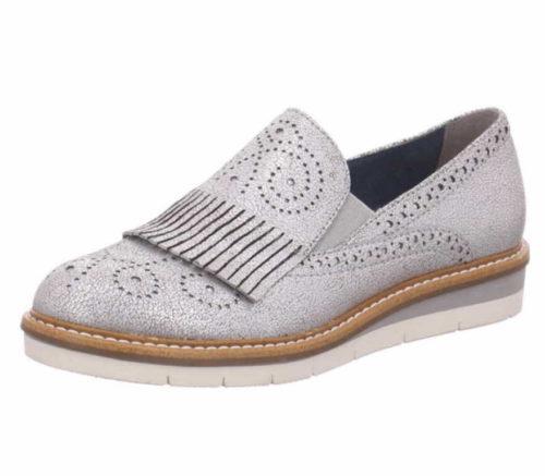 Damen Tamaris Komfort Slipper metallic 39