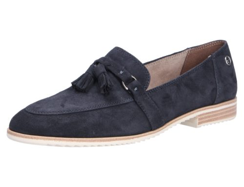 Damen Tamaris Mokassins blau Damen Slipper 41