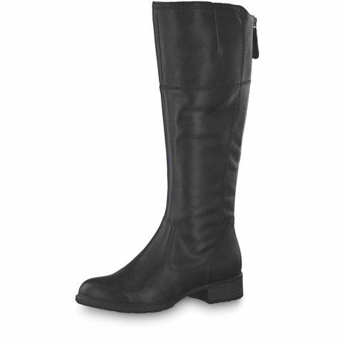 Damen Tamaris Stiefel schwarz black Leder 42