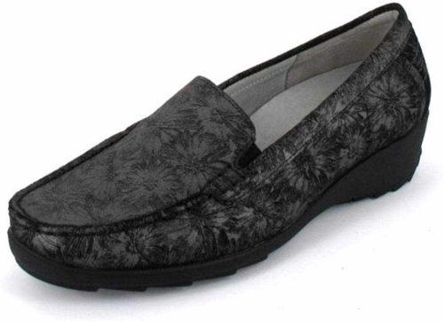Damen Waldläufer Komfort Slipper schwarz 348502 36