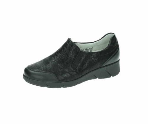 Damen Waldläufer Komfort Slipper schwarz 663501 36
