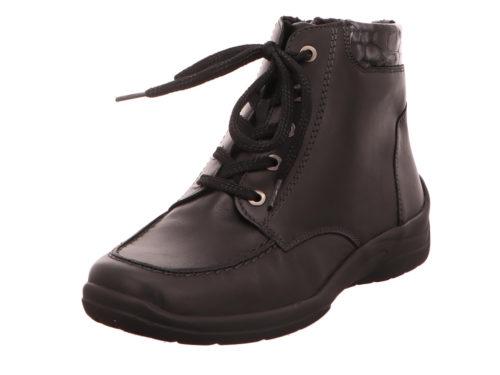 Damen Waldläufer Schnür-Stiefeletten schwarz 42