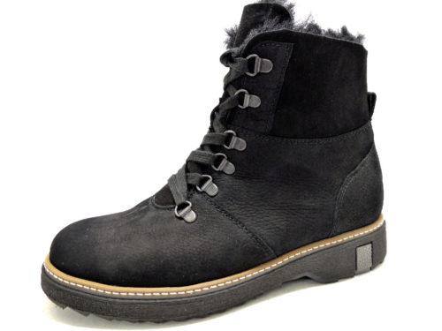 Damen Waldläufer Schnür-Stiefeletten schwarz 911802 38,5