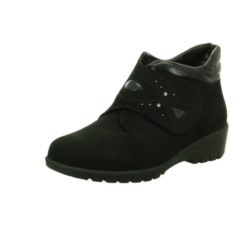 Damen Waldläufer Stiefeletten schwarz Stiefel 40
