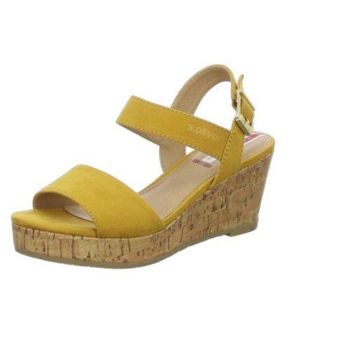Damen s.Oliver Klassische Sandalen gelb Da.-Sandalette 37