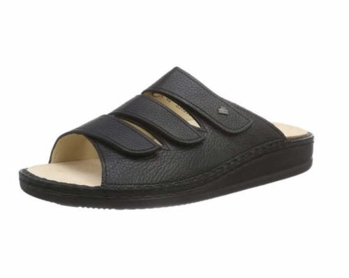 Herren Finn Comfort Pantoletten schwarz Korfu schwarz Bison 38