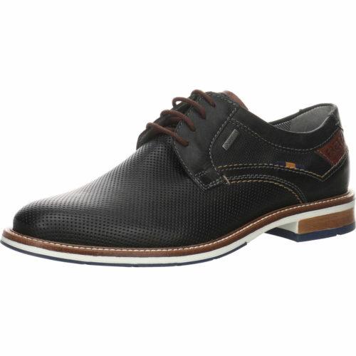 Herren Fretz Men Business Schuhe blau Schnürschuh perforiert 42,5
