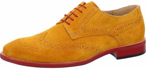 Herren Nicola Benson Business Schuhe gelb Schnürschuh 45
