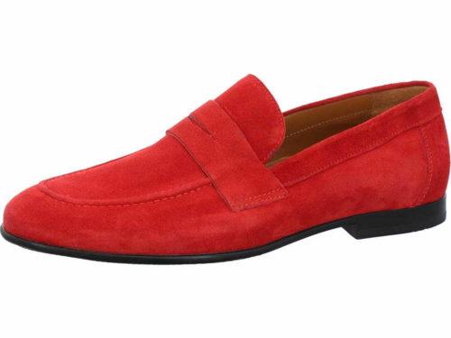 Herren Nicola Benson Klassische Slipper rot Barfuß Slipper 45