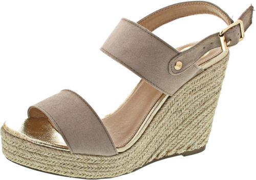 Poelman Damen-Sandalen Sandalette beige (C0041-6B)