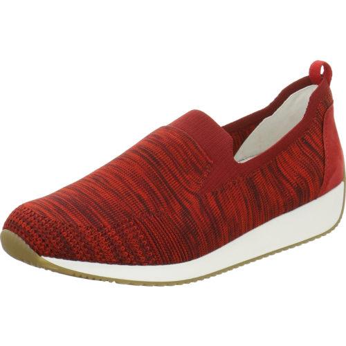 Damen Ara Sportliche Slipper rot 36