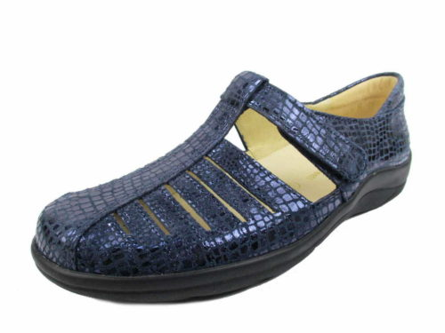 Damen Christian Dietz Komfort Slipper blau Ravenna 40