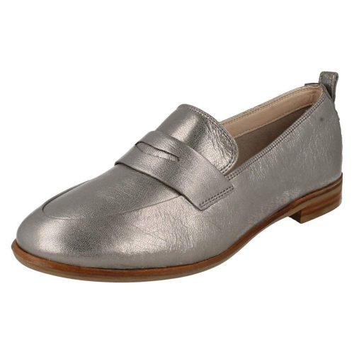 Damen Clarks Klassische Slipper grau 36