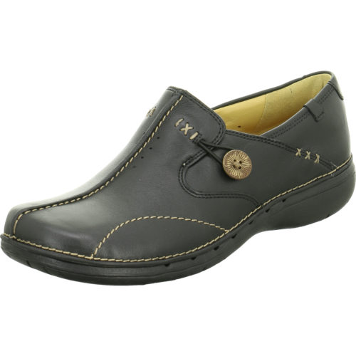 Damen Clarks Komfort Slipper schwarz NV 37