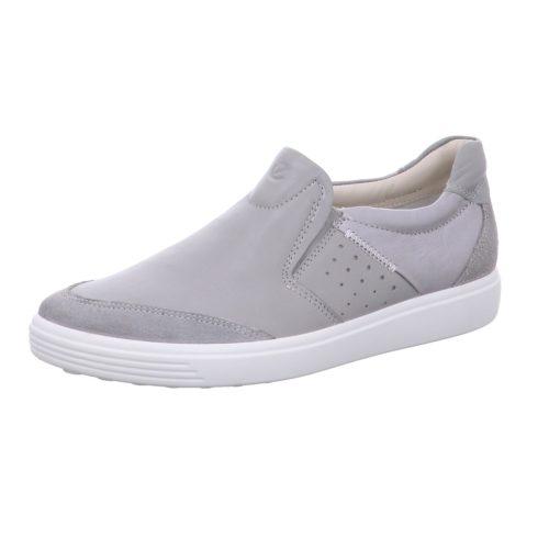 Damen Ecco Sportliche Slipper grau SOFT 7 W 40