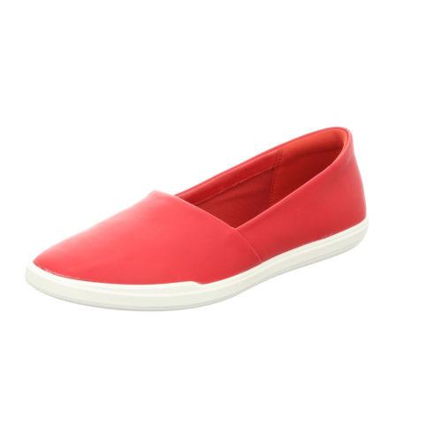 Damen Ecco Sportliche Slipper rot 38