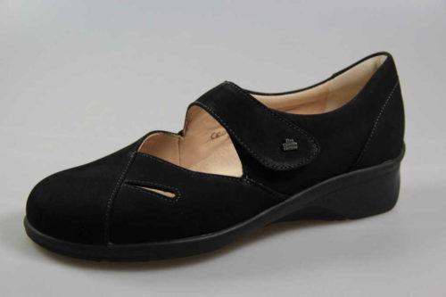 Damen Finn Comfort Komfort Slipper schwarz Aquila 38,5